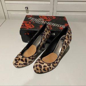 Fergalicious Women's Heels - Leopard Print